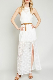 Hayden Lace High-Neck Maxi-Dress - Product Mini Image