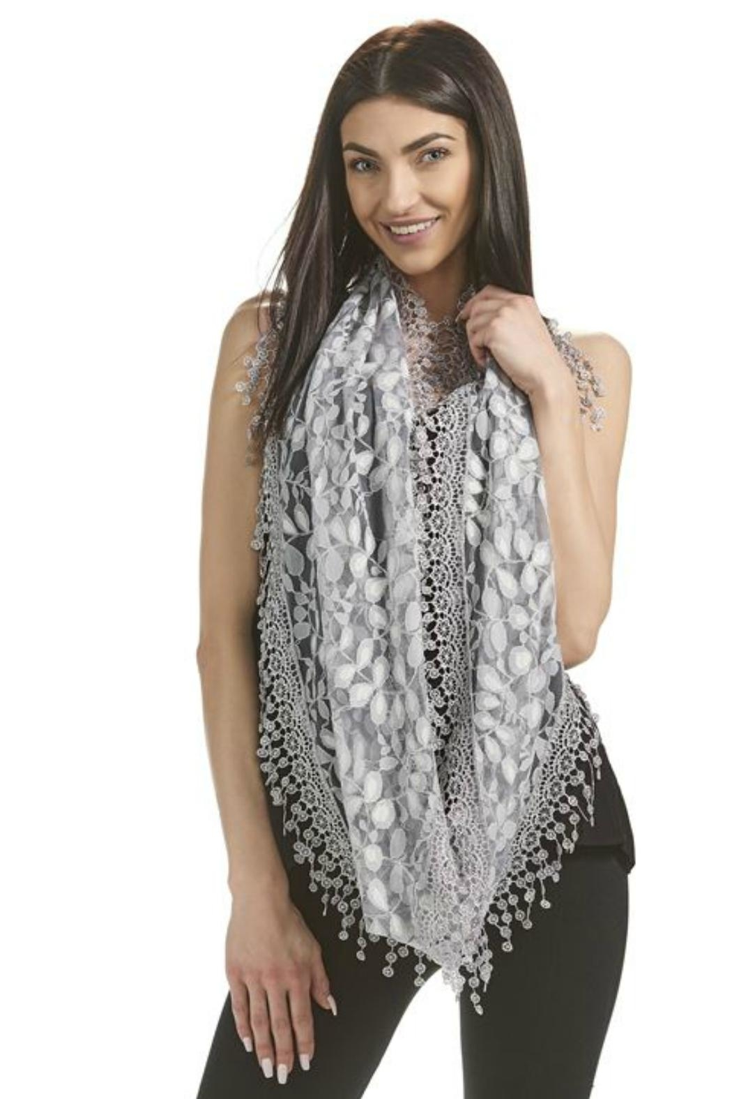 Gift Craft Lace Infinity Scarf - Back Cropped Image