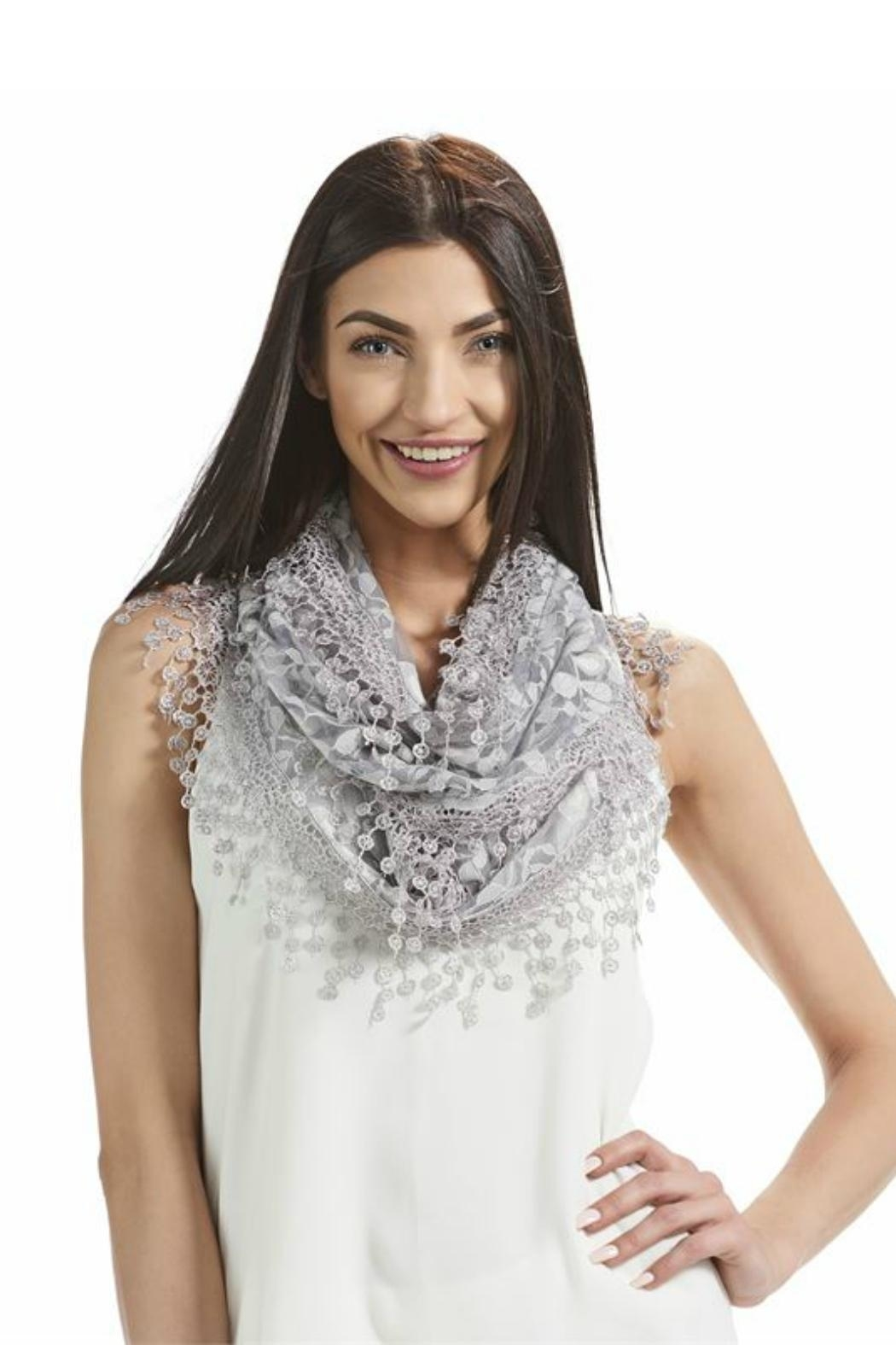 Gift Craft Lace Infinity Scarf - Front Cropped Image