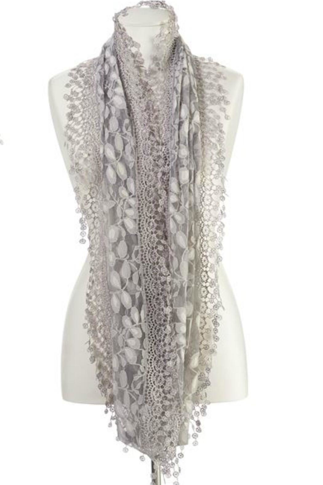 Gift Craft Lace Infinity Scarf - Side Cropped Image