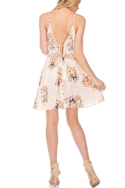 Anama Lace-Insert Floral Mini-Dress - Side cropped