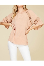 annabelle Lace Insert Top - Product Mini Image