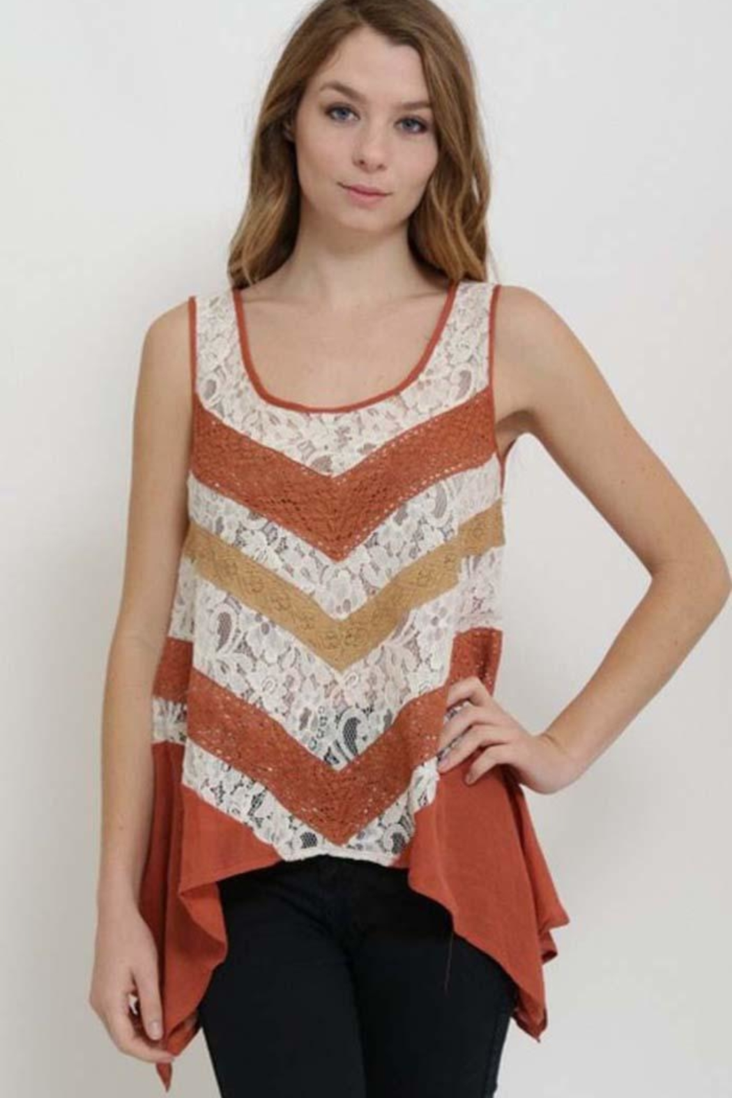 1 Funky Lace Insert Top - Main Image