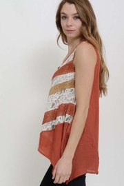1 Funky Lace Insert Top - Front full body
