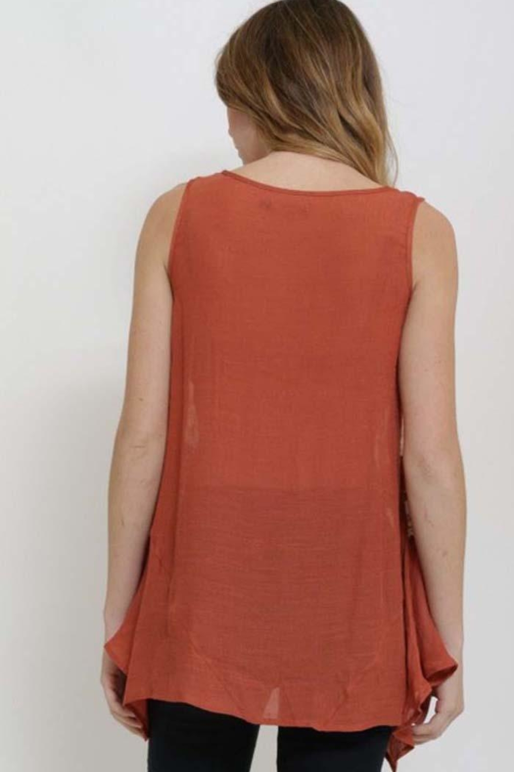 1 Funky Lace Insert Top - Side Cropped Image
