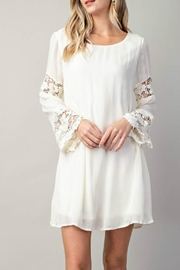KORI AMERICA Lace-Inset White Dress - Product Mini Image
