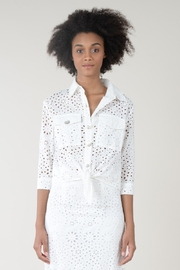 Molly Bracken LACE JACKET TIE FRONT - Front cropped