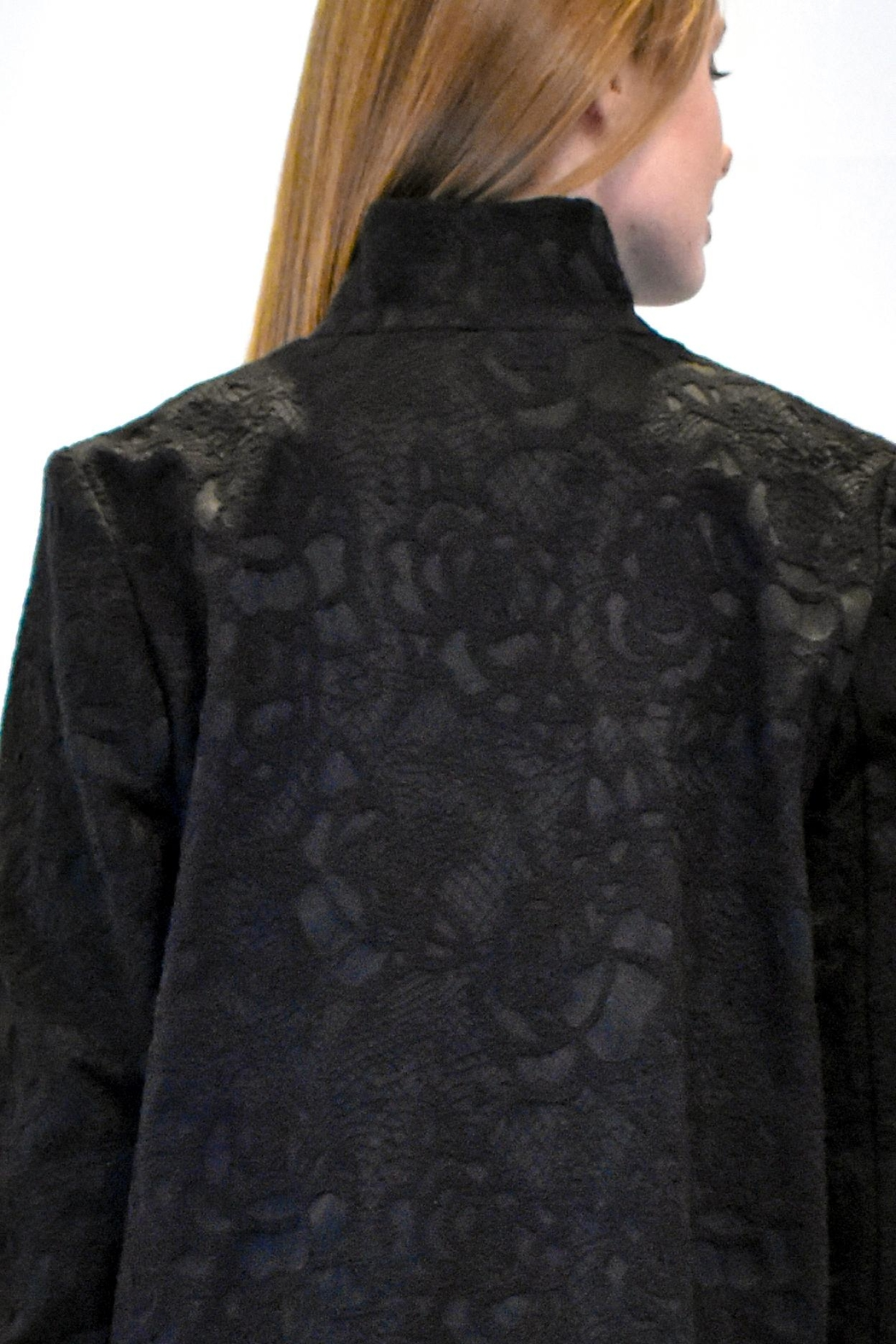 Max Volmary Lace Jacquard Jacket - Side Cropped Image