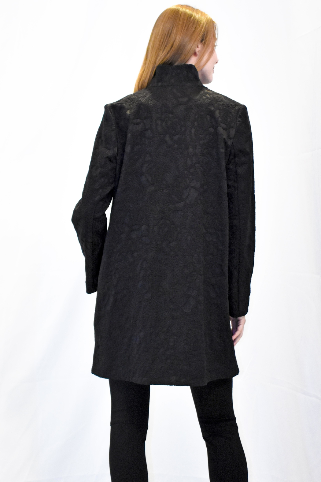 Max Volmary Lace Jacquard Jacket - Front Full Image