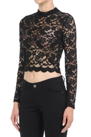 ambiance apparel Lace L/s Crop-Top - Front full body
