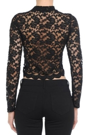ambiance apparel Lace L/s Crop-Top - Side cropped