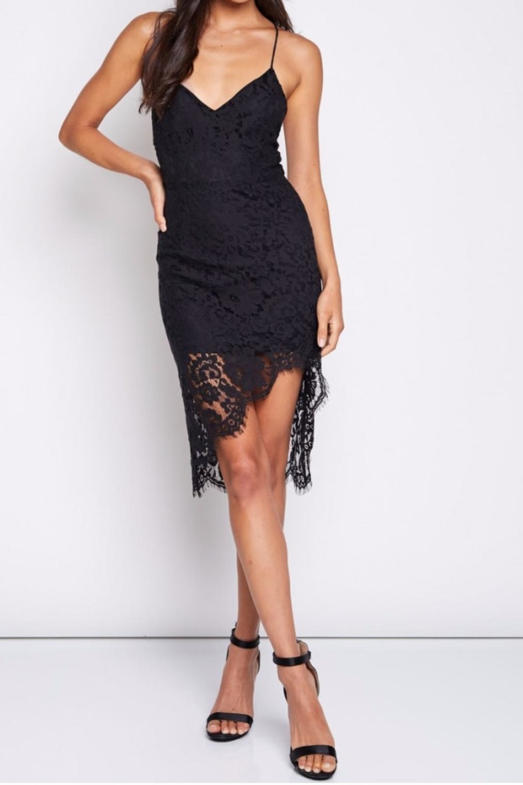 blue blush Lace Lace Baby Mini - Front Cropped Image