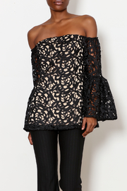 Julian Chang Lace Lined Off the Shoulder Top - Product Mini Image