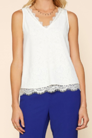 Skies Are Blue LACE LINED TOP - Product Mini Image