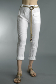 Tempo Paris  LACE LINEN PANTS - Product Mini Image