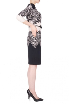 Joseph Ribkoff Lace-Look Accent Dress - Alternate List Image
