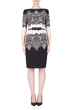 Joseph Ribkoff Lace-Look Accent Dress - Product List Image
