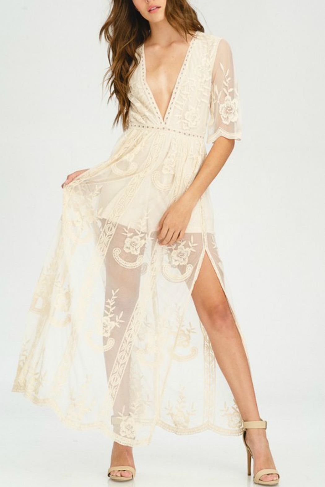Pretty Little Things Lace Maxi Dress - Main Image