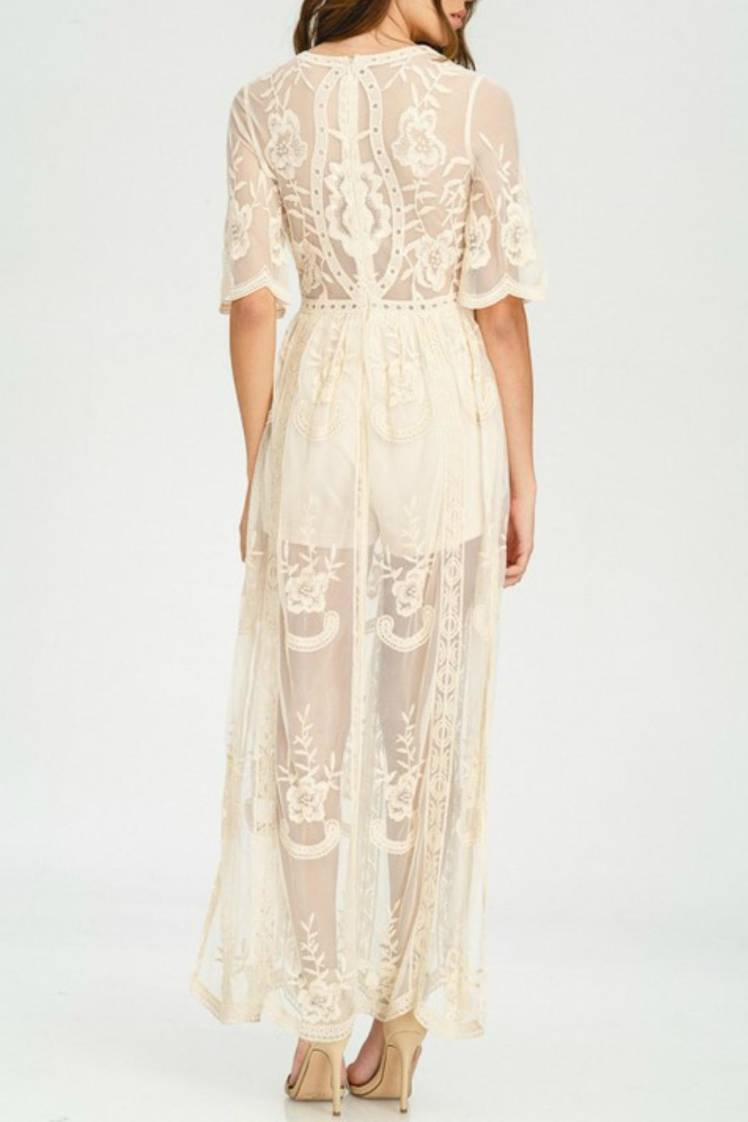 Pretty Little Things Lace Maxi Dress - Front Full Image