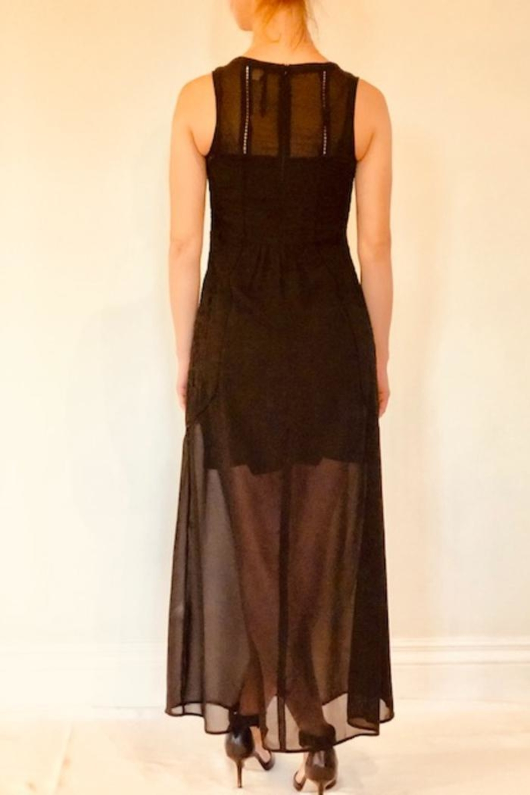 Molly Bracken Lace Maxi Dress - Front Full Image