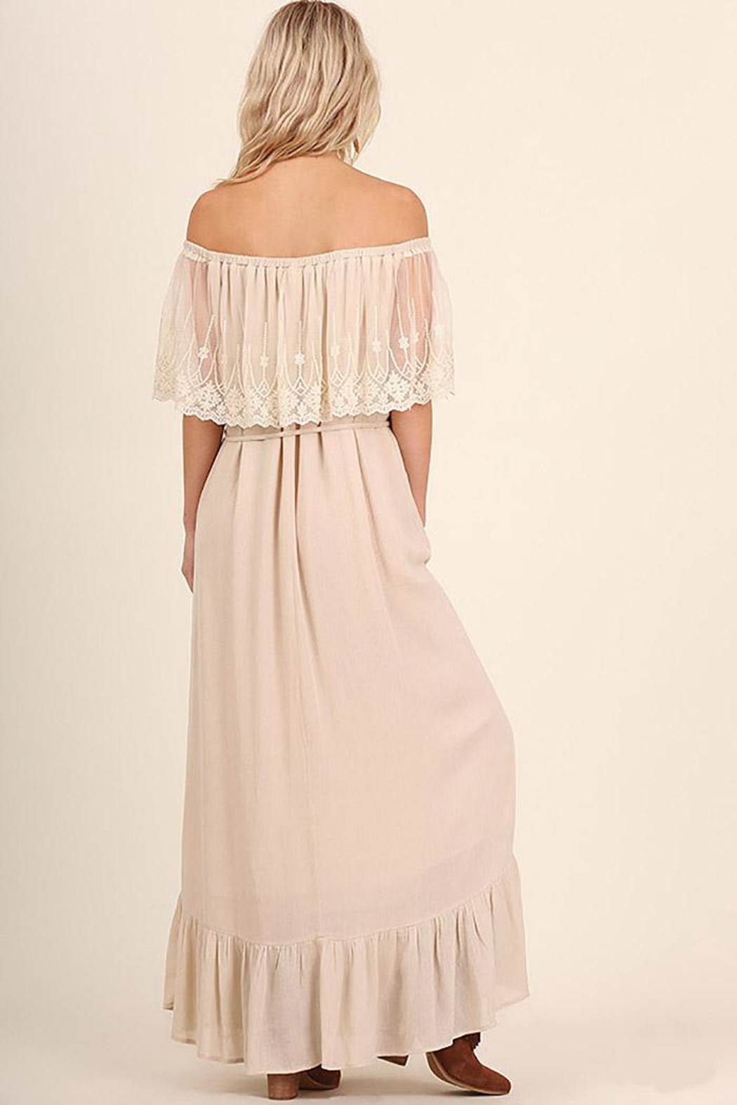 Entro Lace Maxi Dress - Back Cropped Image