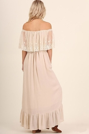 Entro Lace Maxi Dress - Back cropped