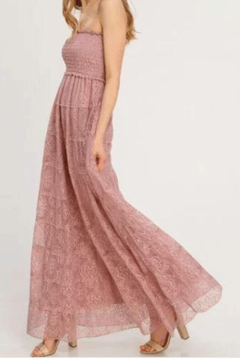 Do + Be  Lace Maxi Dress With Smocked Bodice - Alternate List Image