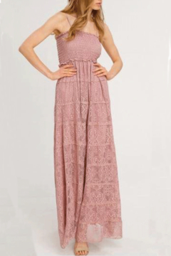 Shoptiques Product: Lace Maxi Dress With Smocked Bodice