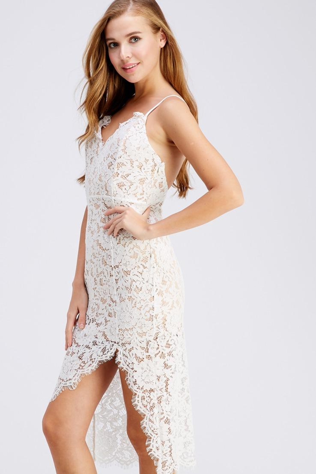 Do & Be Lace Midnight Dress - Front Full Image