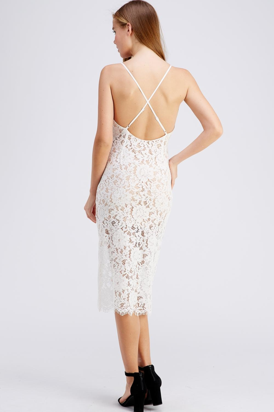 Do & Be Lace Midnight Dress - Side Cropped Image