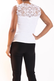 Talk of the Walk Lace Neck Cami - Front full body