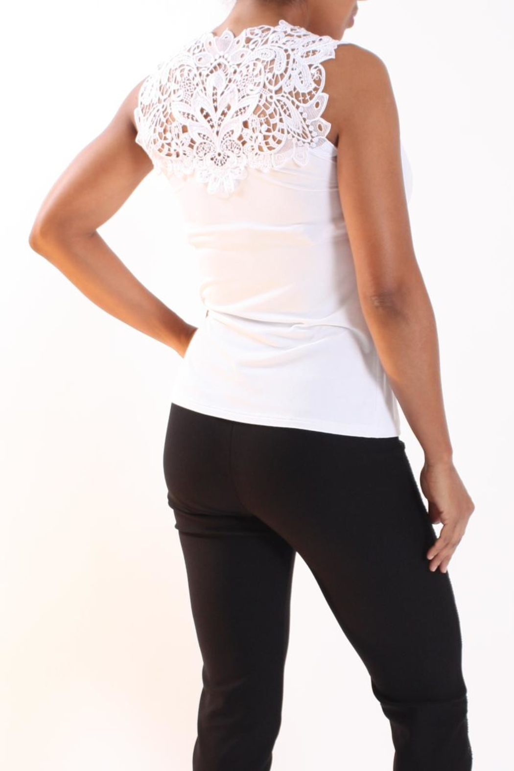 Talk of the Walk Lace Neck Cami - Side Cropped Image