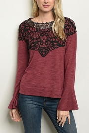 Lyn -Maree's Lace Neck Long Sleeve - Product Mini Image