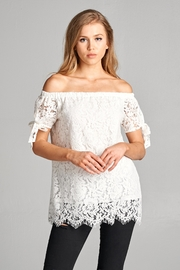 Racine Lace Off-Shoulder Top - Product Mini Image