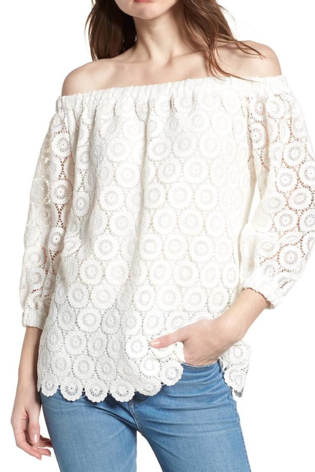 Bishop + Young Lace Off-The-Shoulder Top - Main Image
