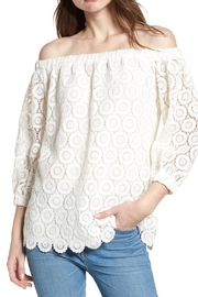 Bishop + Young Lace Off-The-Shoulder Top - Front cropped