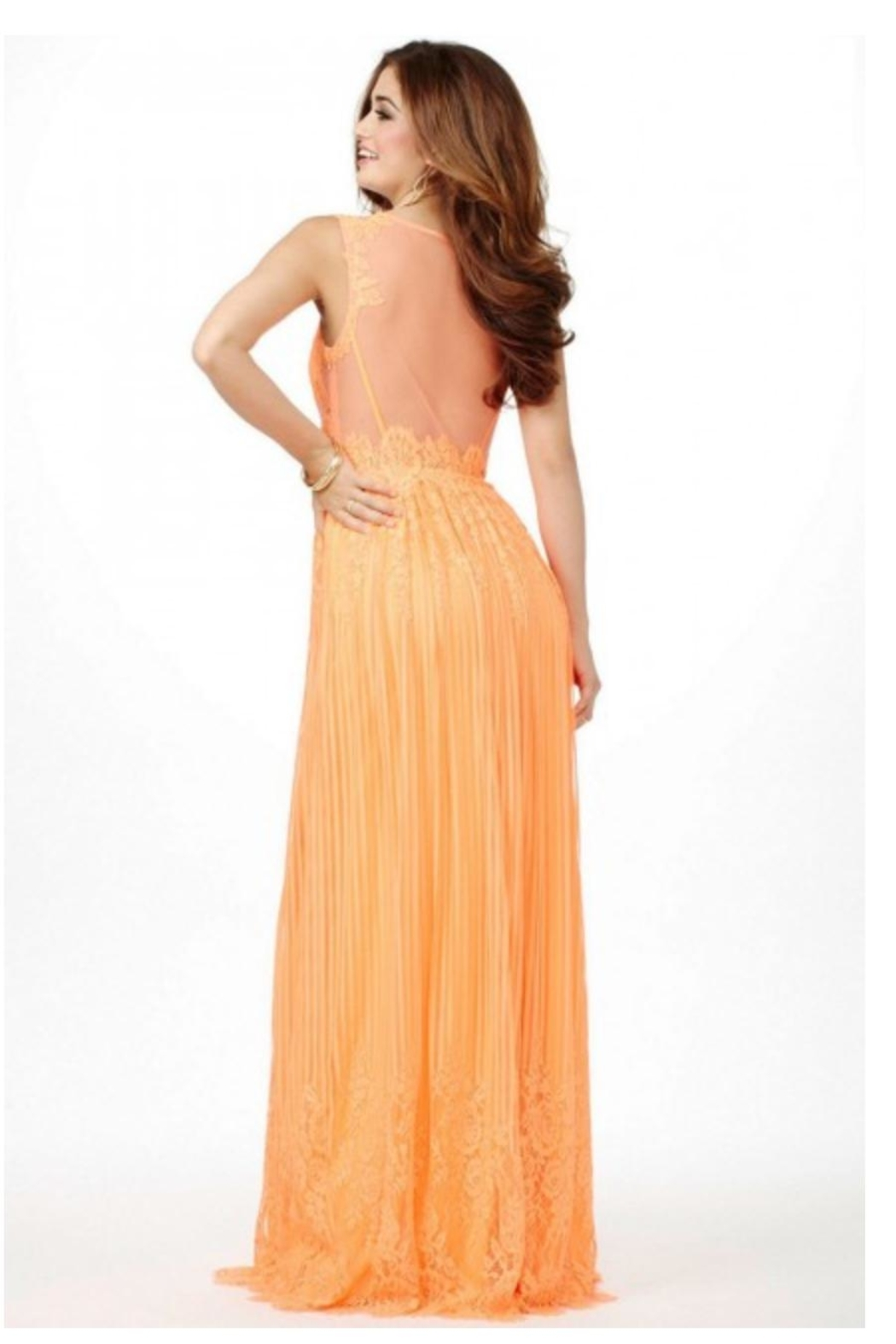 Jovani PROM Lace Orange Gown - Front Full Image