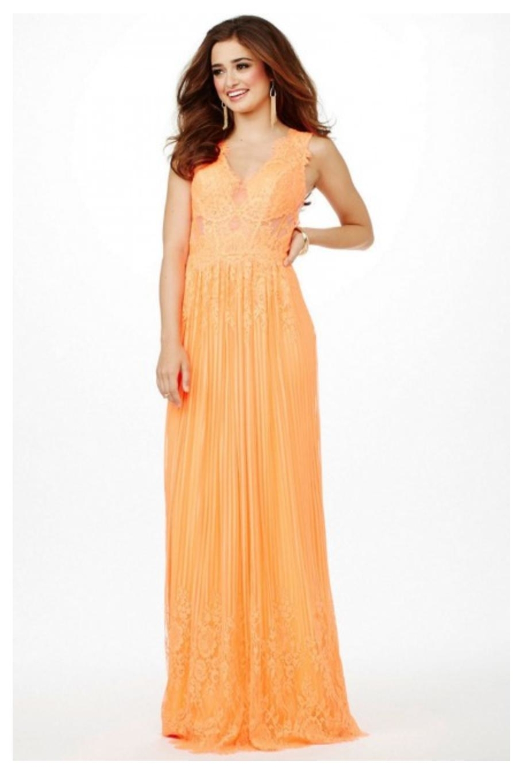 Jovani PROM Lace Orange Gown - Main Image