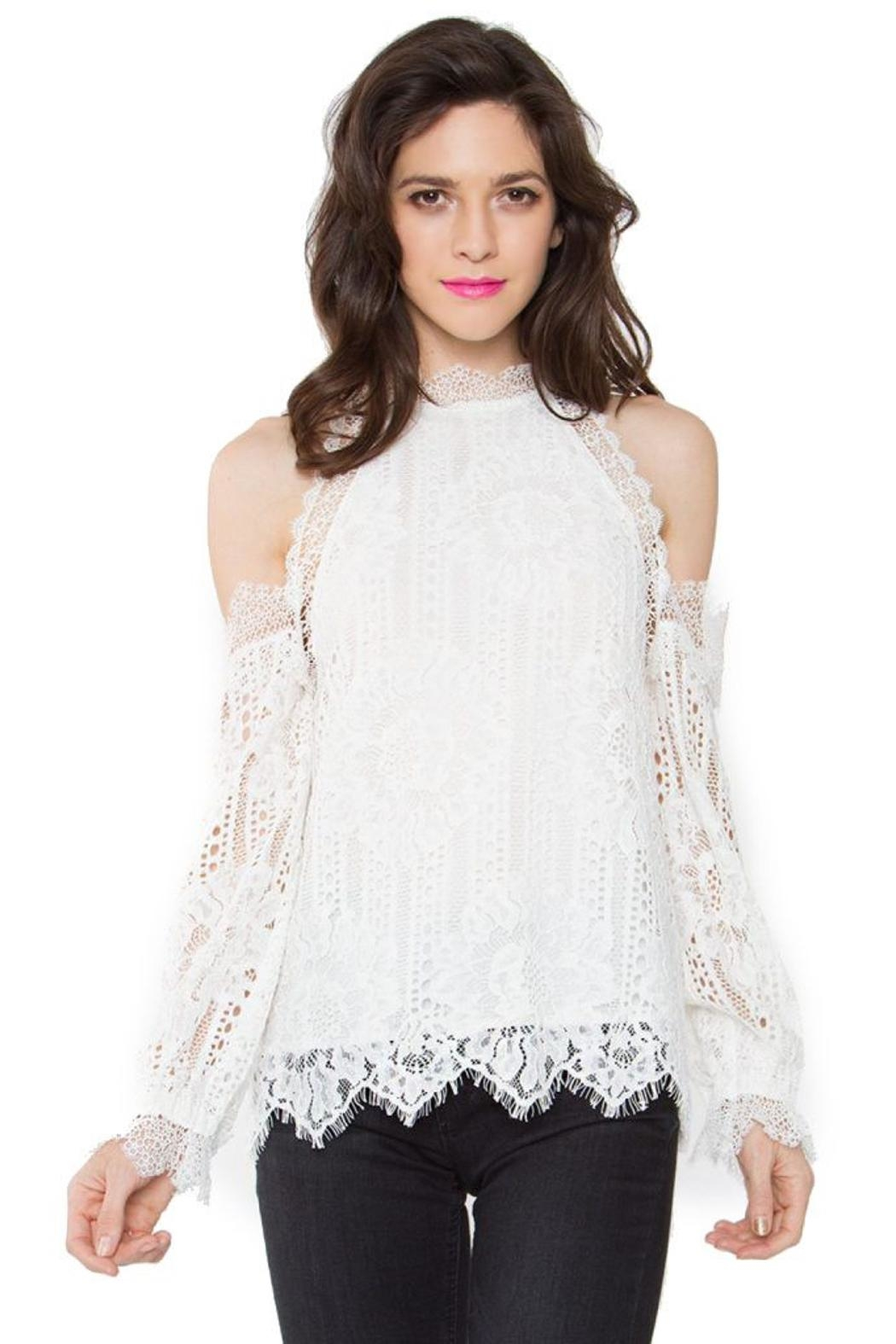 Sugar Lips Lace Ots Top - Back Cropped Image