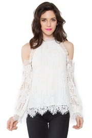 Sugar Lips Lace Ots Top - Back cropped