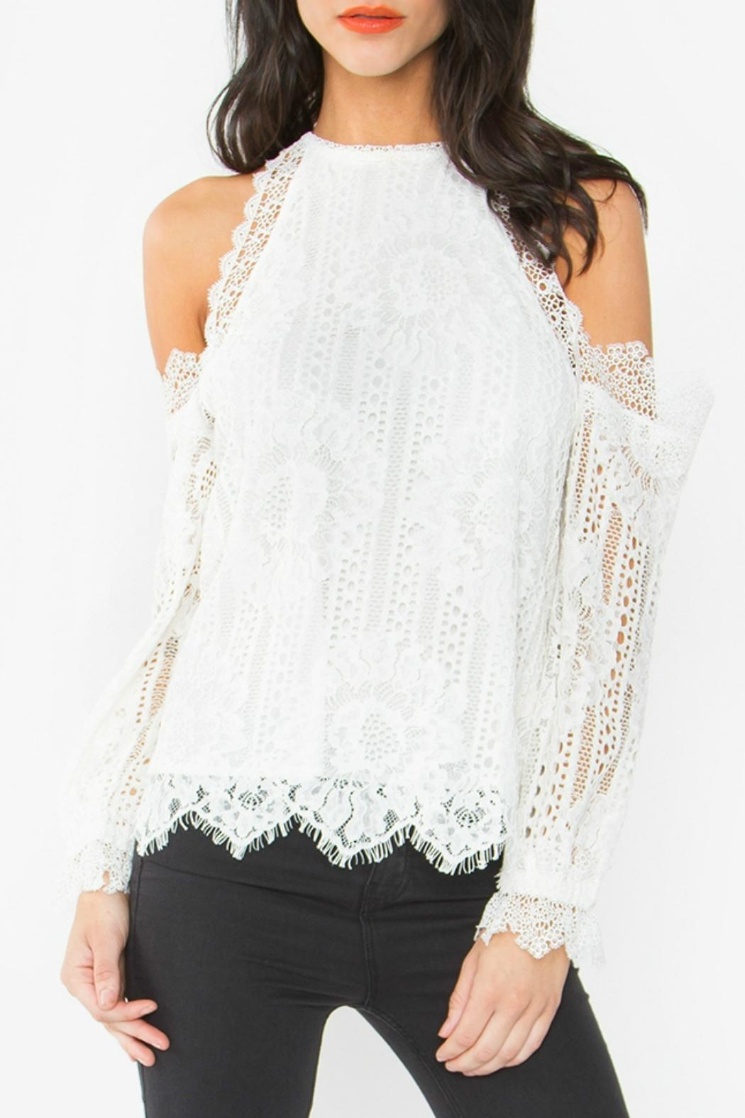 Sugar Lips Lace Ots Top - Front Cropped Image