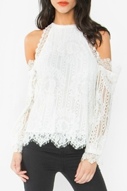 Sugar Lips Lace Ots Top - Front cropped