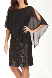 Lyman Lace Overlay Cold Shoulder Knee Length Dress - Product Mini Image