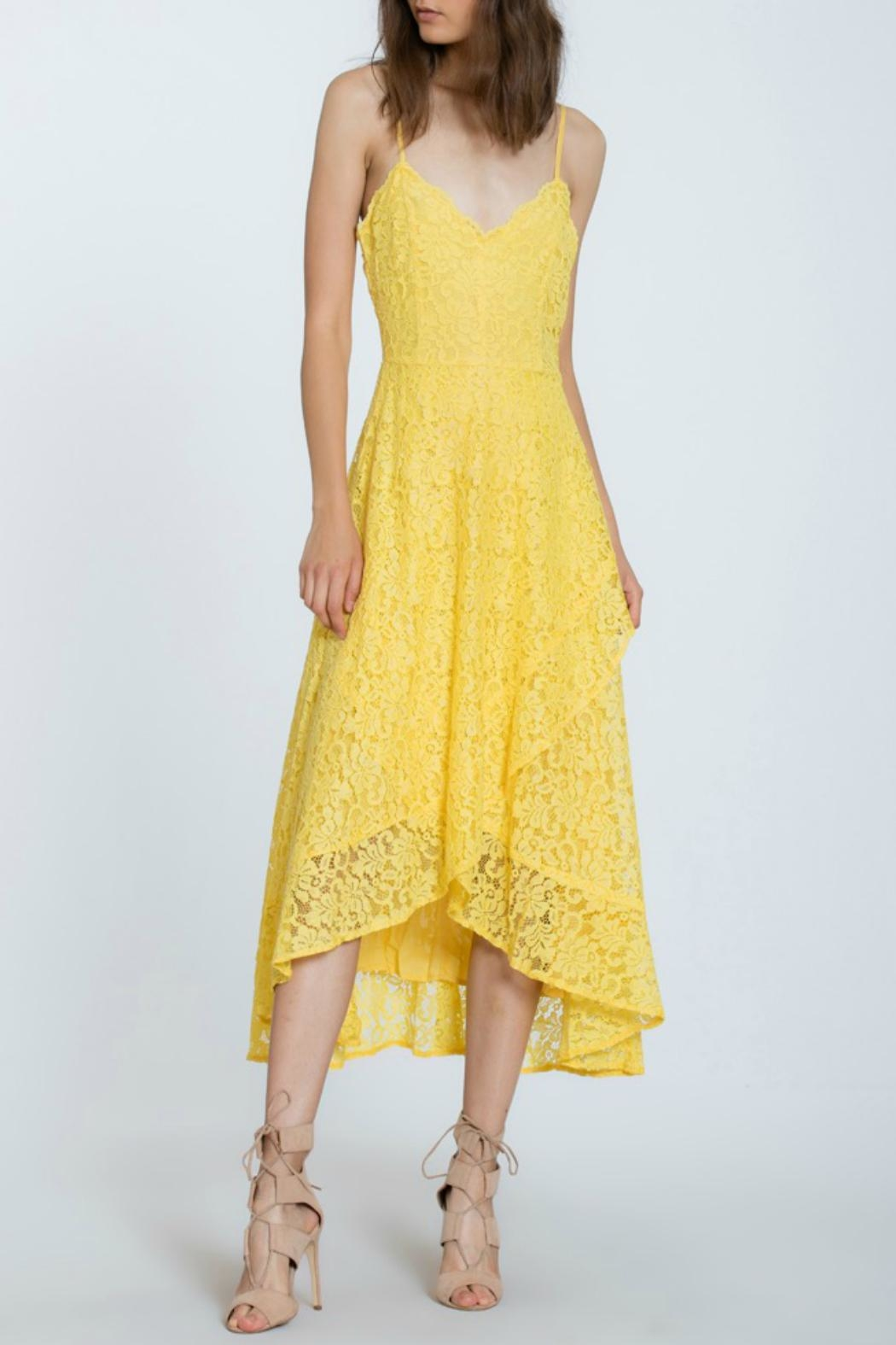 The Room Lace Overlay Dress - Front Full Image