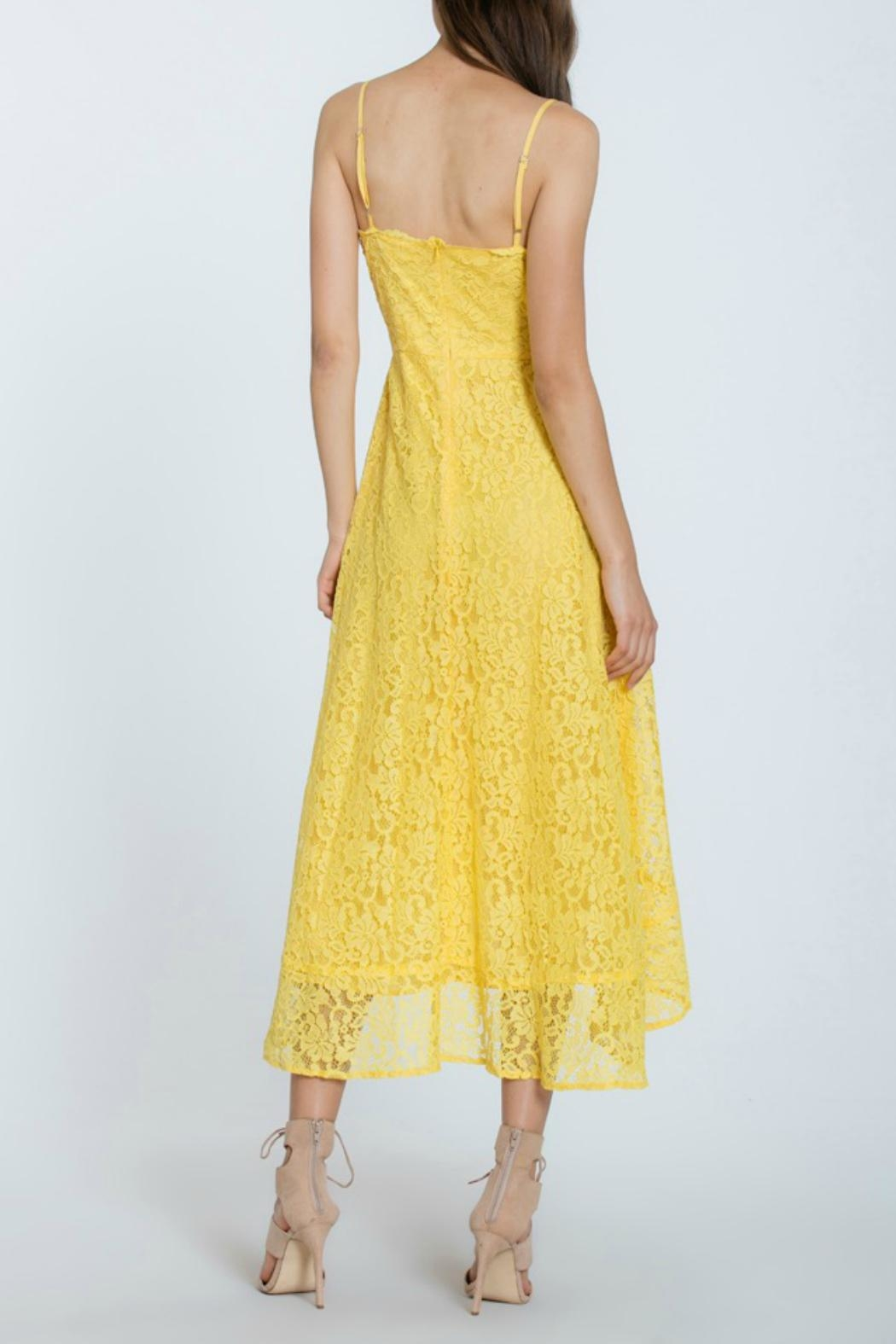 The Room Lace Overlay Dress - Back Cropped Image
