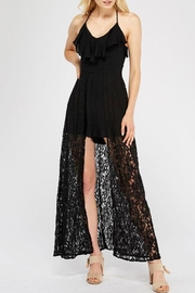 Entro Lace Overlay Halter-Romper - Other