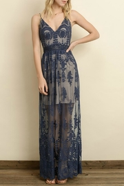 ALB Anchorage Lace-Overlay Navy Maxi - Product Mini Image