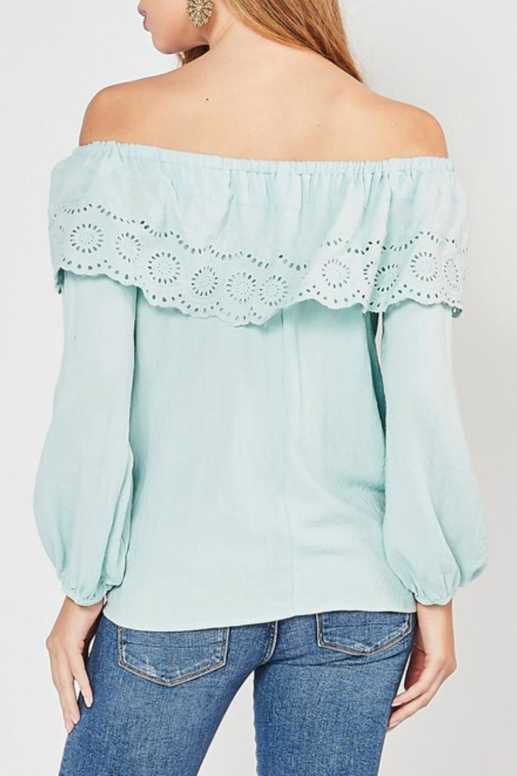 Entro Lace-Overlay Ots Top - Side Cropped Image