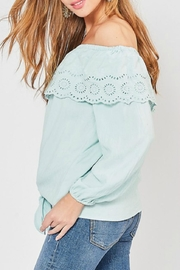 Entro Lace-Overlay Ots Top - Front full body