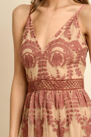 ALB Anchorage Lace-Overlay Rust Maxi - Back cropped